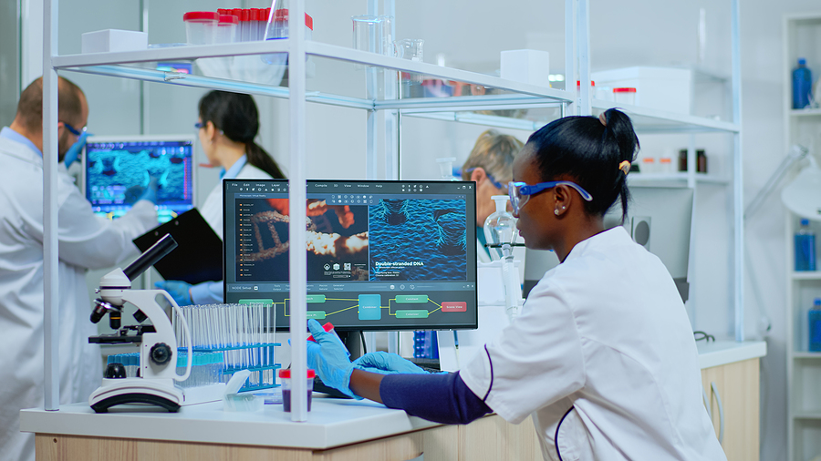 Black Woman Researcher Carrying Out Scientific Research